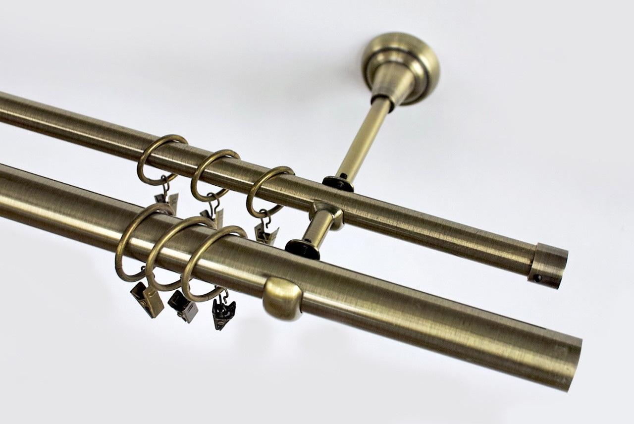 карниз металлический двухрядный