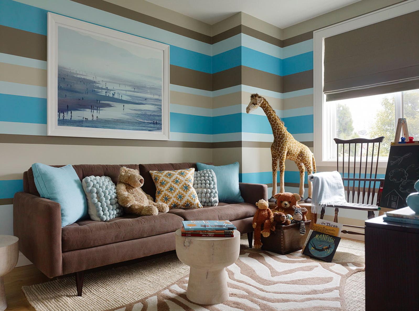 смесь дизайн комнат стены в полоску фото гостей порадуйте