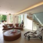 коричневый диван виды фото