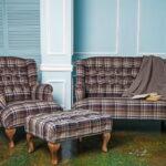 коричневый диван дизайн