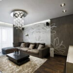 коричневый диван фото декор