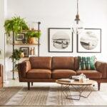 коричневый диван фото оформления