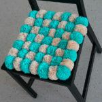 коврик из помпонов декор фото