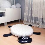коврик из помпонов фото оформление