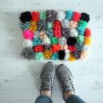 коврик из помпонов фото виды