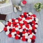 коврик из помпонов дизайн фото
