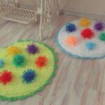 коврик из помпонов фото декор