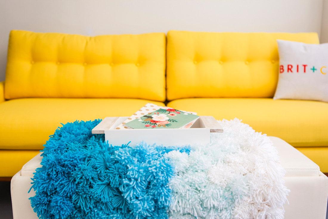 коврик из помпонов фото дизайна
