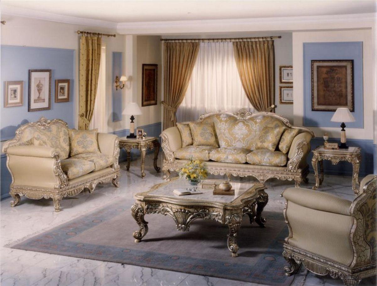 коричневый диван барокко