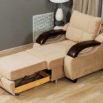 кресло-кровать бежевое