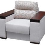 кресло-кровать серое