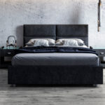 кровать темная