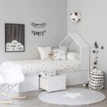 аккуратная стильная детская кровать