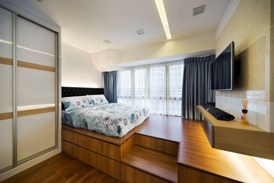 кровать подиум дизайн идеи