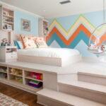 кровать подиум фото декора