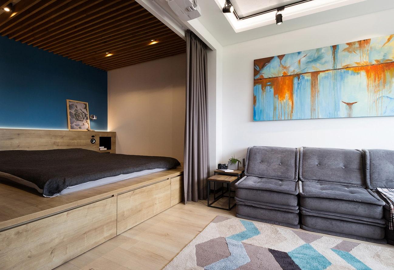 кровать подиум фото дизайн