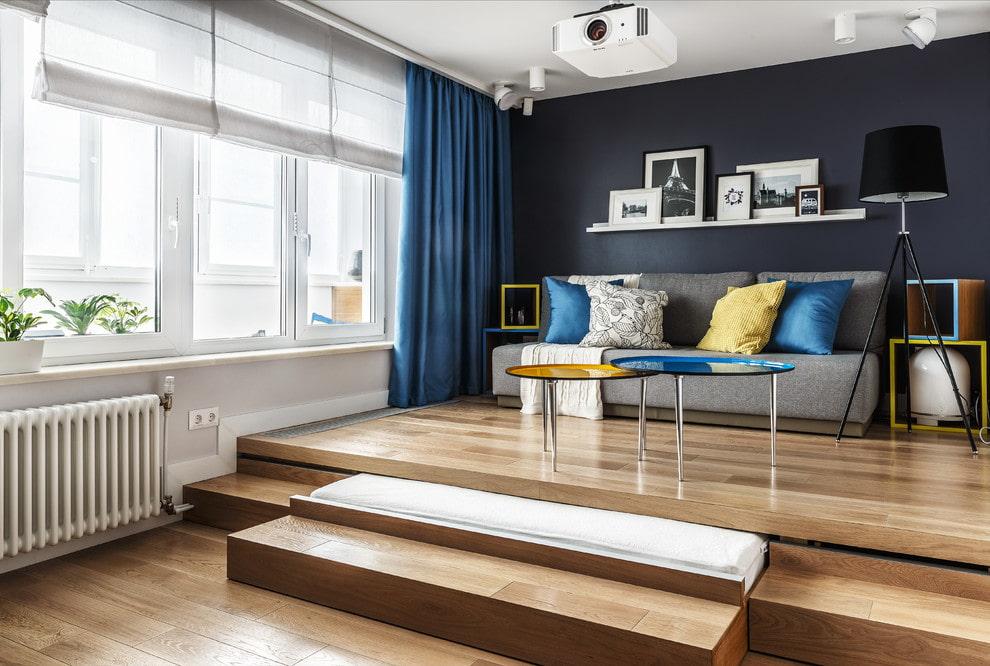 кровать подиум фото дизайна