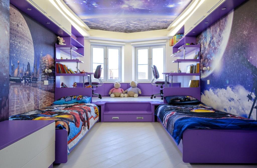 кровать подиум в детской