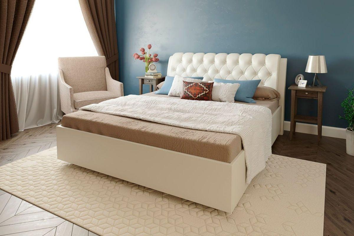 кровать с ортопедическим основанием и матрасом