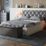 размер кровати серой