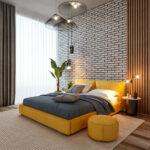 кровать размеры желтой
