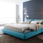 размер кровати синей