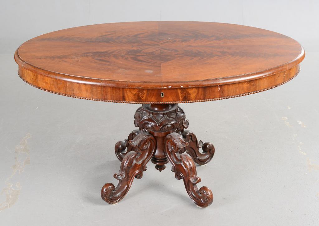 круглый стол резной