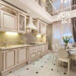 кухонные шкафы до потолка прованс