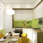 кухонные шкафы до потолка светлые