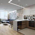 кухонные шкафы до потолкаквадратные
