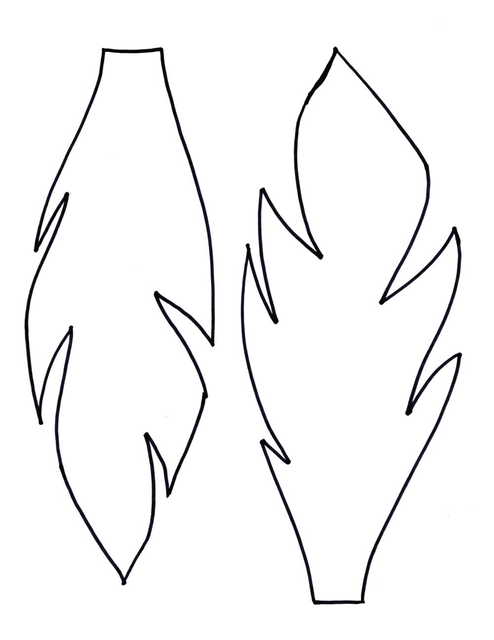 нарисованный лист одуванчика