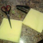 ножницы, степлер, салфетки