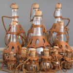 бутылка с деревянным декором