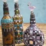 бутылка с мозаикой