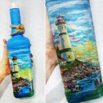бутылка с маяком
