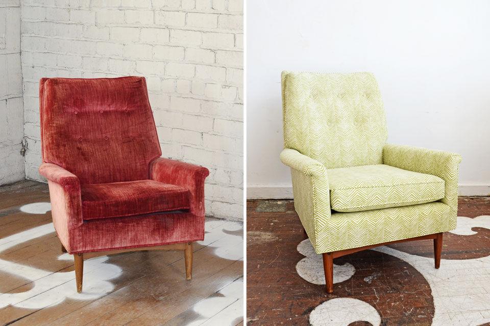 перетяжка кресла дизайн