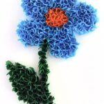 аппликация цветок