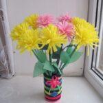 аппликация букет цветов