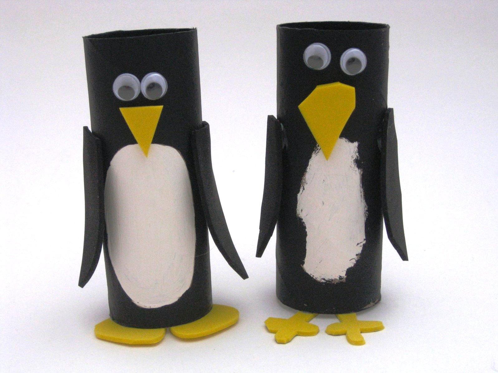 подставка из картона пингвин фото
