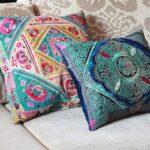 подушка из поролона с орнаментом