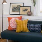 подушка из поролона желтая