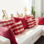 подушка из поролона красные