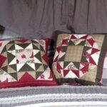 подушка из поролона с треугольниками