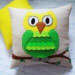 подушка сова дизайн фото