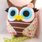 подушка сова дизайн