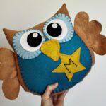 подушка сова из фетра фото