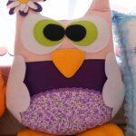 подушка сова из фетра фото идеи