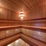 полок для бани фото интерьера