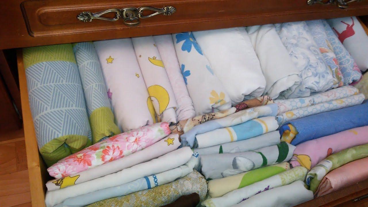 постельное бельё в комоде