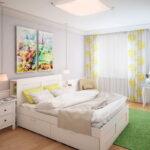 прикроватный коврик для спальни интерьер фото